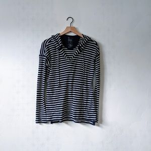 GAP Tops - Gap S Blue and White Striped Octavia Waffle Hoodie